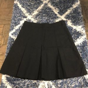 Theory pleated fit and flare skirt
